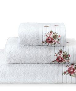 מגבת רקמת פרחים