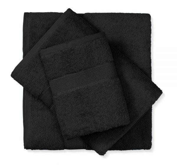 מגבת כותנה שחור