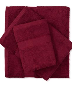 מגבת כותנה בורדו