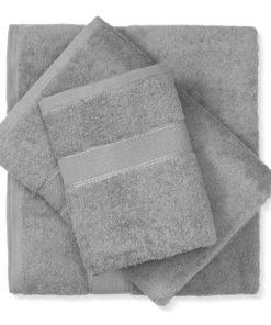 מגבת כותנה אפור בהיר