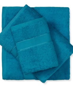 מגבת כותנה טורקיז כהה